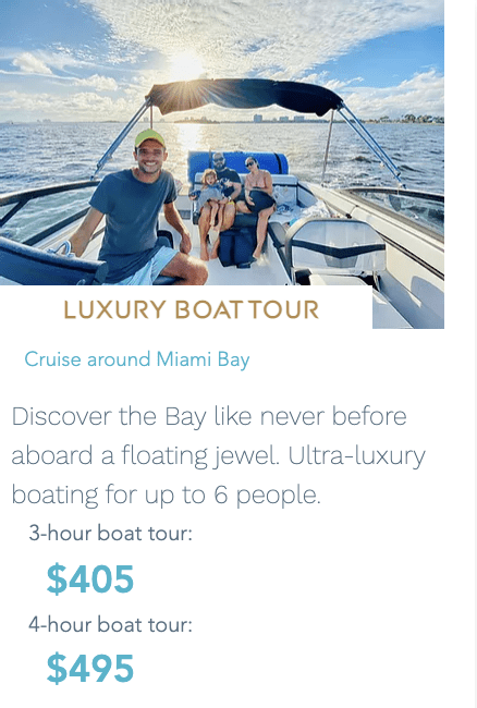 Experience Luxury Boat Tours in Miami, FL
